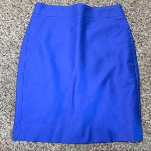 J. Crew Royal Blue Skirt 0P